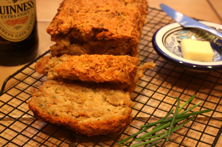 Guinness, Chive & Cheddar Bread