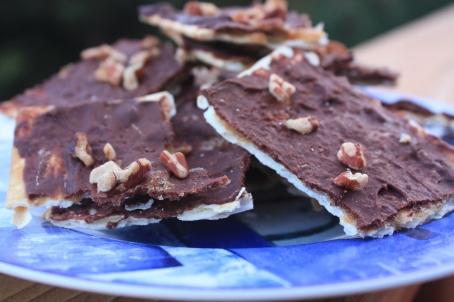 Chocolate Toffee Matzoh Bark