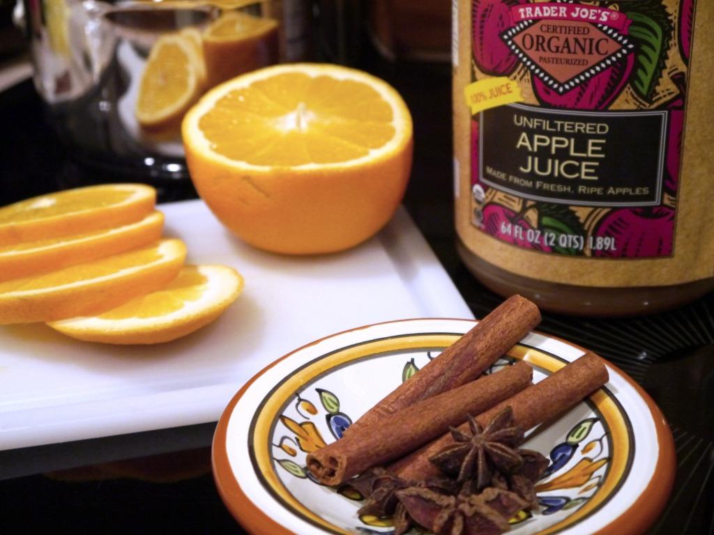 Mulled Cider Ingredients