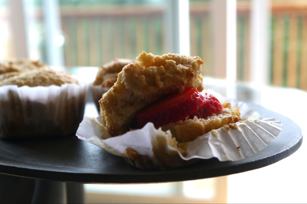 Strawberry Stuffed Almond Flour Muffin